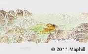 Physical Panoramic Map of Krumë, lighten