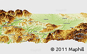 Physical Panoramic Map of Krumë