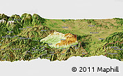 Physical Panoramic Map of Krumë, satellite outside