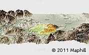 Physical Panoramic Map of Krumë, semi-desaturated