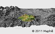 Satellite Panoramic Map of Krumë, desaturated