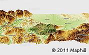Satellite Panoramic Map of Krumë, physical outside