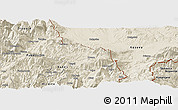Shaded Relief Panoramic Map of Krumë