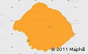 Political Simple Map of Krumë, single color outside