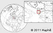 Blank Location Map of Kuçovë