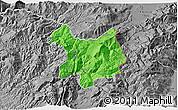 Political 3D Map of Kukës, desaturated