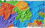 Political 3D Map of Kukës