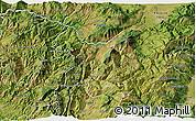 Satellite 3D Map of Kukës