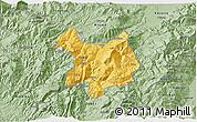 Savanna Style 3D Map of Kukës