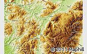 Physical Map of Kukës