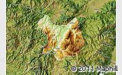 Physical Map of Kukës, satellite outside