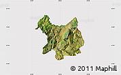 Satellite Map of Kukës, cropped outside