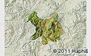 Satellite Map of Kukës, lighten