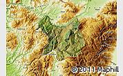 Satellite Map of Kukës, physical outside