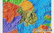 Satellite Map of Kukës, political outside