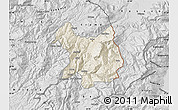 Shaded Relief Map of Kukës, desaturated