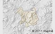 Shaded Relief Map of Kukës, lighten, desaturated