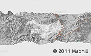 Gray Panoramic Map of Kukës