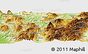 Physical Panoramic Map of Kukës