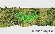 Political Panoramic Map of Kukës, satellite outside