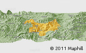 Savanna Style Panoramic Map of Kukës