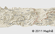 Shaded Relief Panoramic Map of Kukës