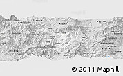 Silver Style Panoramic Map of Kukës