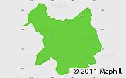 Political Simple Map of Kukës, single color outside