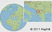 Savanna Style Location Map of Laç