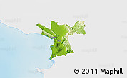 Physical 3D Map of Lezhë, single color outside