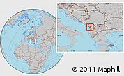 Gray Location Map of Lezhë