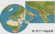 Satellite Location Map of Lezhë