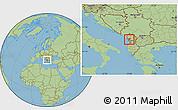 Savanna Style Location Map of Lezhë