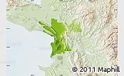 Physical Map of Lezhë, lighten