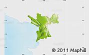 Physical Map of Lezhë, single color outside