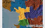 Political Map of Lezhë, darken