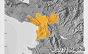 Political Map of Lezhë, desaturated