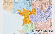 Political Map of Lezhë, lighten