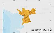 Political Map of Lezhë, single color outside