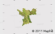 Satellite Map of Lezhë, cropped outside