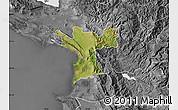 Satellite Map of Lezhë, desaturated