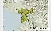 Satellite Map of Lezhë, lighten