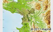 Satellite Map of Lezhë, physical outside
