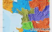 Satellite Map of Lezhë, political outside