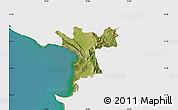 Satellite Map of Lezhë, single color outside