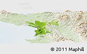 Physical Panoramic Map of Lezhë, lighten