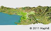 Physical Panoramic Map of Lezhë, satellite outside