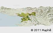 Satellite Panoramic Map of Lezhë, lighten