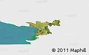 Satellite Panoramic Map of Lezhë, single color outside