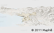 Shaded Relief Panoramic Map of Lezhë, lighten